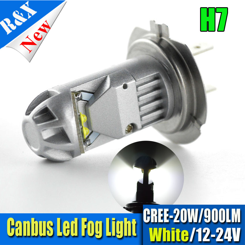 Latest No polarity Canbus H7 LED Super Bright White Fog Tail Driving 12V Car Light Lamp Bulb 24V Error Free 900lm super bright h7 8 led white car vehicle bulb fog driving daytime light lamp 12v free shipping