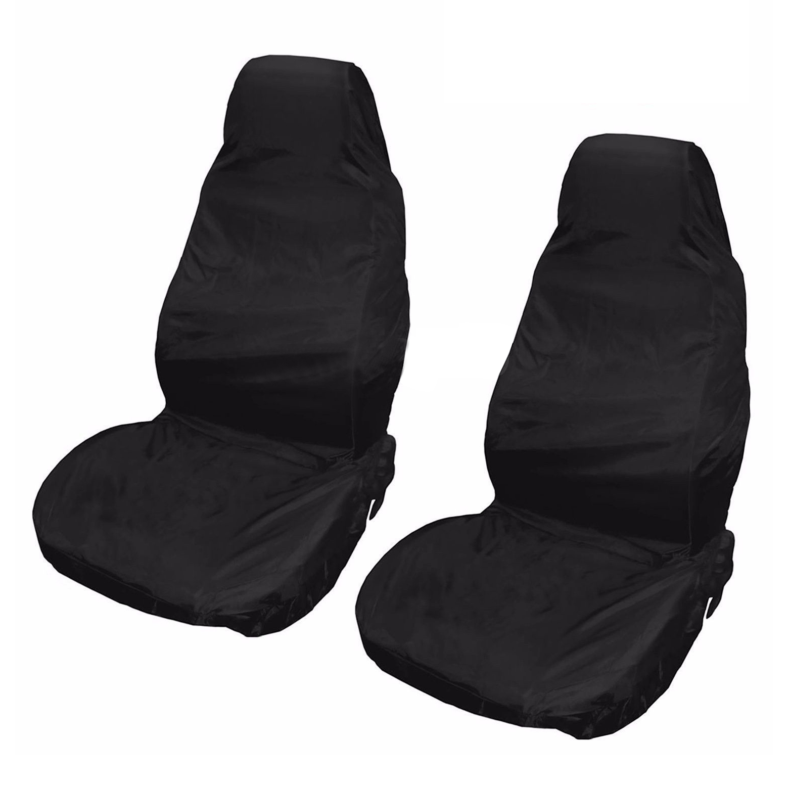 2x Universal Waterproof Nylon Front Car Van Seat Covers Protectors Black Pair