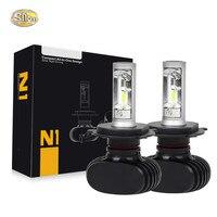 SNCN Led CAR Headlight For For Honda City Grace 2008 2014 Plug Play 2PC 12V 50W