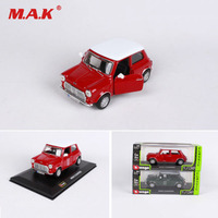 Collectible Car Model 1:36 Diecast Vehicle Alloy Model Car Toys 1969 MINI COOPER Red/Green For Children Fans Collection Gift