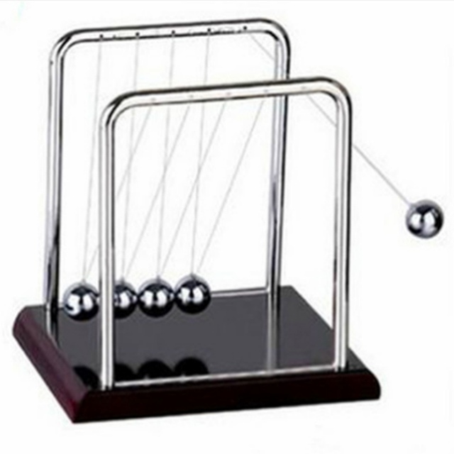 2017 New Teaching Way Newton Teaching Science Desk toys Cradle Steel Balance Ball Physic School Educational Supplies home decora