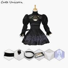Nier Automata Косплей Костюм Йорга 2B сексуальная одежда игры костюм для женщин ролевые игры костюмы для девочек Хэллоуин Вечеринка нарядное платье