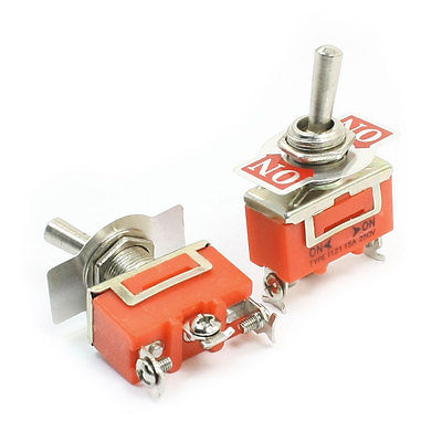 Panel Mount ON-ON SPDT Rocker Type Toggle Switch AC 250V 15A E-TEN1121 5pc lot free shipping new long flat handle 3 pin on off on spdt cqc rohs silvery point rocker toggle switch ac 6a 125v 3a 250v