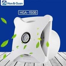 Hon&Guan 6 Home Ventilation Fan Bathroom Garage Exhaust Ceiling and Wall Mount Fan; Super Silent, Strong HGA-150B