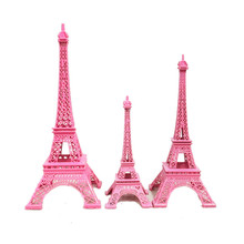 купить Zakka France Paris colored red white blue black iron tower ornaments model shooting props crafts home decorations La Tour дешево