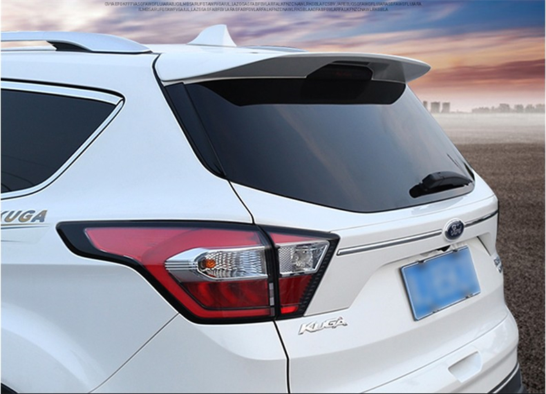 Spoiler For Ford Kuga Escape 2013.2014.2015.2016.2017 High quality ABS Auto Rear Wing Spoilers Car Accessories car styling rear wing trunk spoiler decorative cover for europe toyota camry 2012 2013 2014 2015 abs auto accessories
