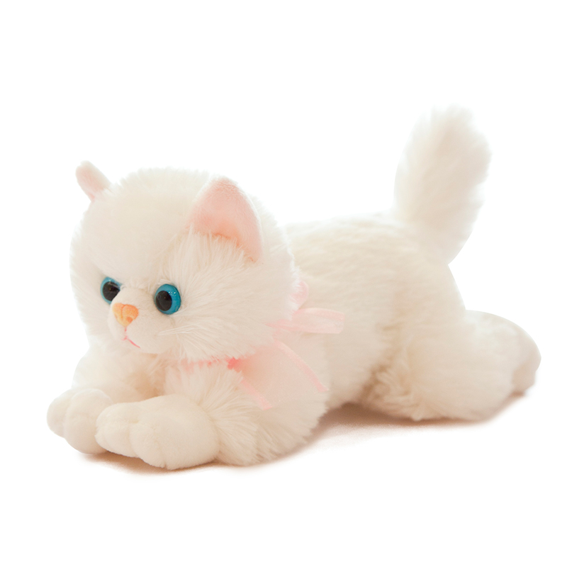 New Arrival Realistic Cat Lifelike Plush Kitten Toy Plushie Soft Toy Stuffed Animal Cat Pillow For Girl Kids Birthday Gifts