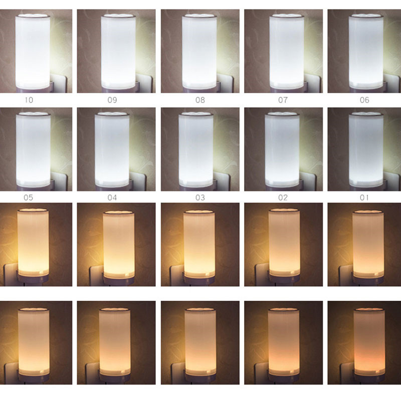 1.5W 220V Led remote Controller night light connect wall socket bedroom bedside lamp For night lighting feeding baby