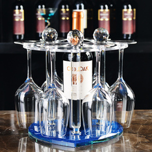 Crystal glass frame with double Wine wine rack shelf rack European wine rack goblet ornaments