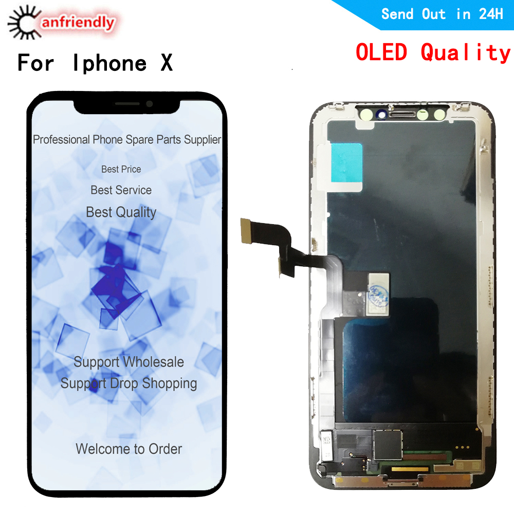 Oled LCD For <font><b>iphone</b></font> X XS A1902 A1903 A1901 <font><b>A1865</b></font> A1920 A2097 LCD Display+Touch panel Screen Digitizer Assembly for <font><b>iphone</b></font> X XS image