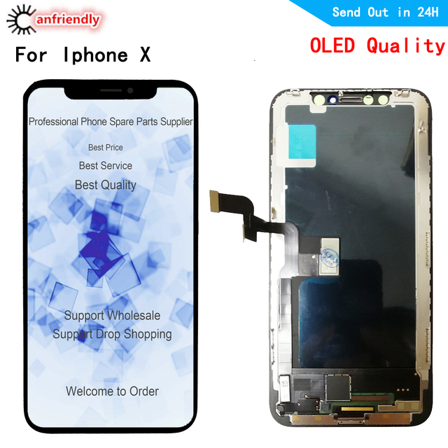 Oled LCD For iphone X XS A1902 A1903 A1901 A1865 A1920 A2097 LCD Display+Touch panel Screen Digitizer Assembly for iphone X XS
