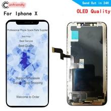 Oled Lcd Voor Iphone X Xs A1902 A1903 A1901 A1865 A1920 A2097 Lcd scherm + Touch Panel Screen Digitizer Vergadering voor Iphone X Xs