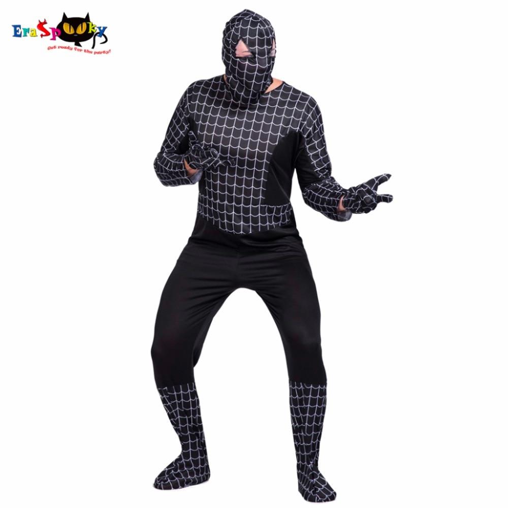 Spider Hero Superhero Costumes Mask Jumpsuit Glove Suit 3 Piece Adult Justice League Spider Man Cosplay Men Halloween Costume