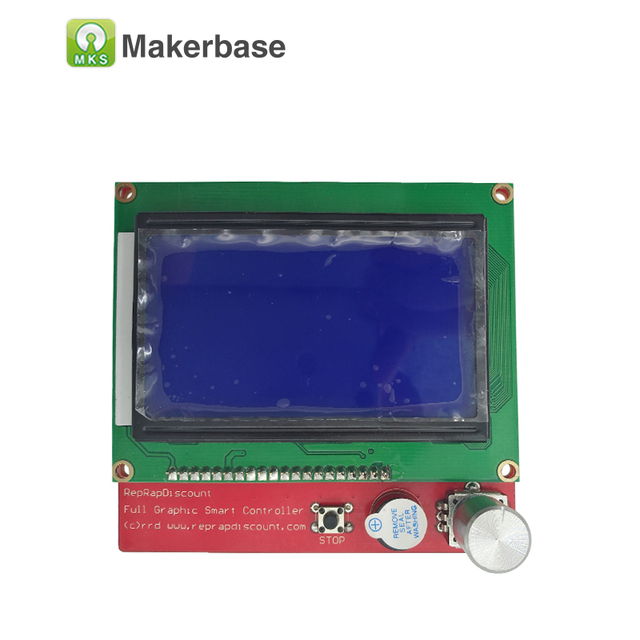 3D printer display LCD12864 full Graphic smart controller Reprap  Ramps1.4 LCD high quality excellent durability/stability