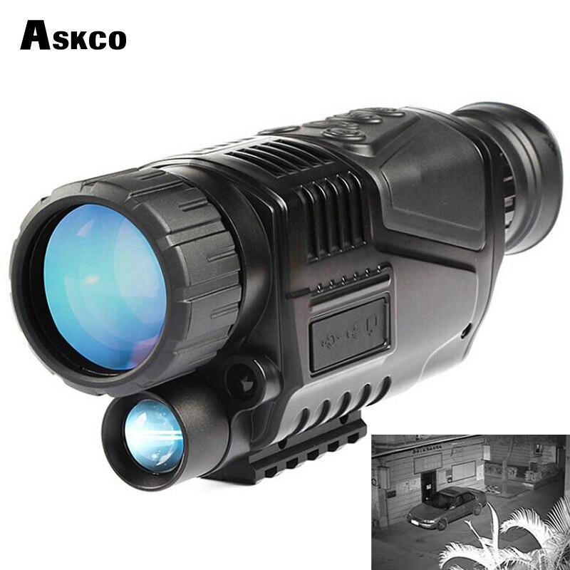 Livre Shipp monocular digital de visão noturna infravermelha do telescópio 5X40 night vision scope Tira Fotos e Vídeo com TFT LCD para a caça