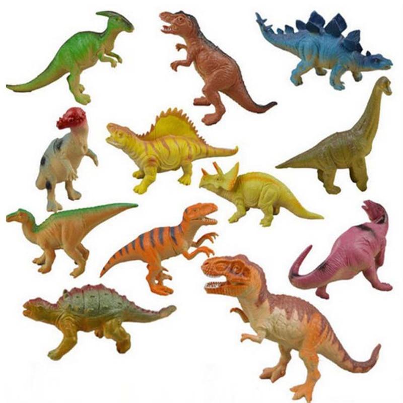 World Dinosaur Plastic Sound Models 12 pcs/set Figure Cartoon Park Toys For Children CCC certification gift