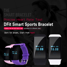 Оригинал! DFit D21 Heart Rate Monitor Smartband Водонепроницаемый SmartBand Здоровье Фитнес Tracker для Android и iOS