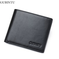 GUBINTU 100 Genuine Leather Wallet Men Top Quality Wallet Rfid Card Holder Multi Pockets Wallet For