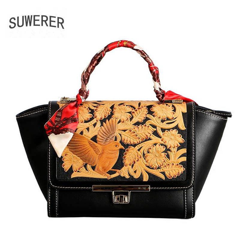 Genuine Leather handbag  2018 new luxury embossed handbag Fashion Shoulder Messenger Bag Womens handbagsGenuine Leather handbag  2018 new luxury embossed handbag Fashion Shoulder Messenger Bag Womens handbags