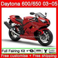 Body For Triumph Daytona TOP Red black 650 600 02 03 04 05 Daytona600 86SH20 Daytona650 Daytona 600 2002 2003 2004 2005 Fairings
