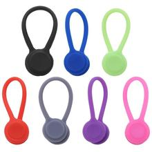 Gadgets Key-Hooks Magnetic Cable-Organizer Earphone Wire-Storage Silicone Headset 1 1PC