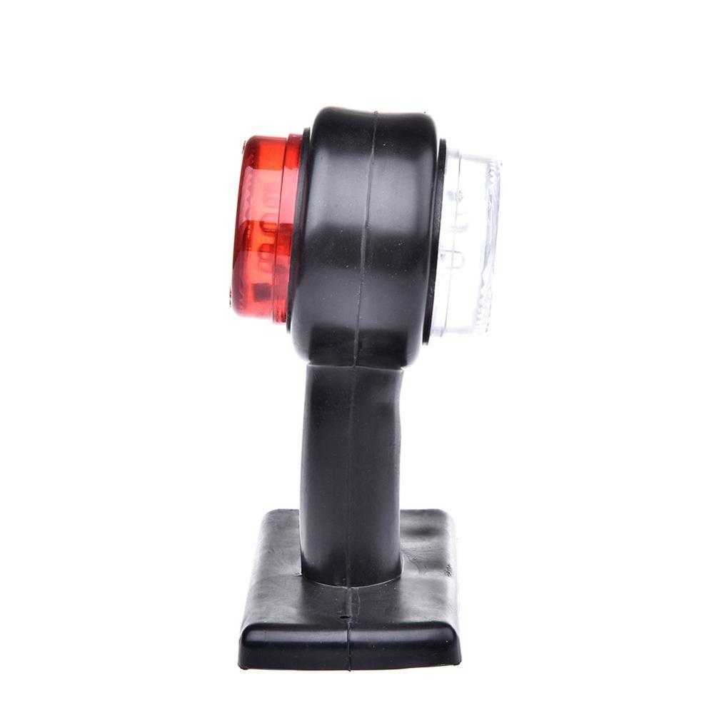 מקרן קיר 2pcs 10-30V טריילר משאית האדום לבן 12-LED עמילות Side Marker אור מנורה (4)