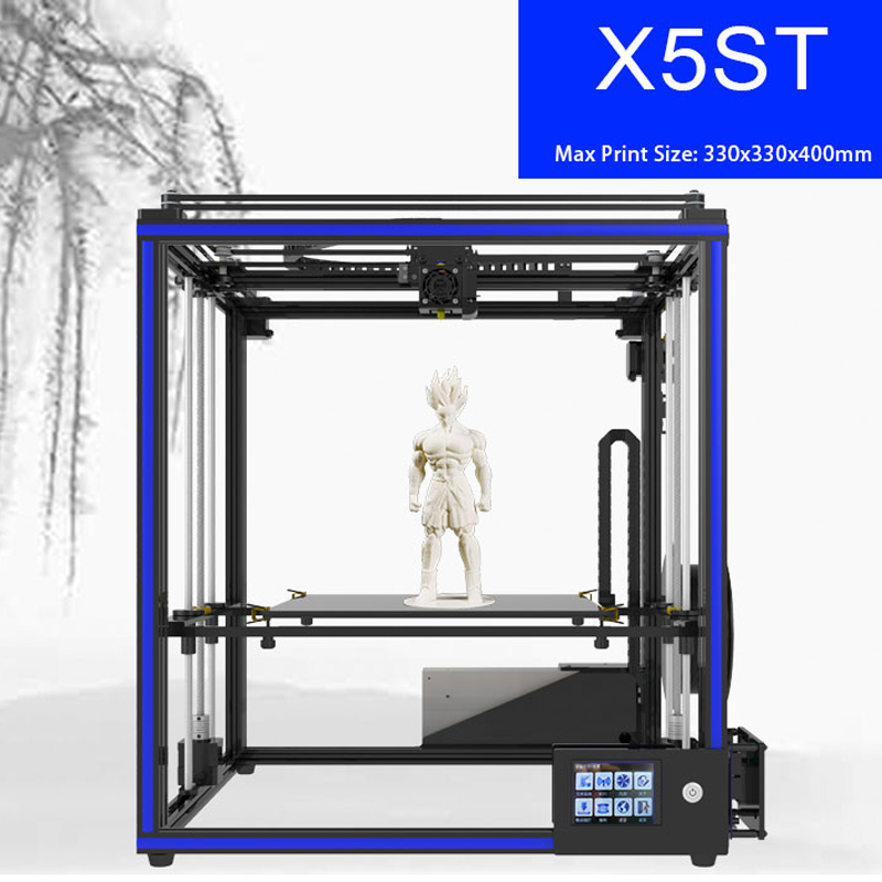 NEW 3D printer tronxy X5ST Large printing size 330*330*400mm full metal High Precision with Touch Screen PLA filament double color m6 3d printer 2017 high quality dual extruder full metal printers 3d with free pla filaments 1set gift
