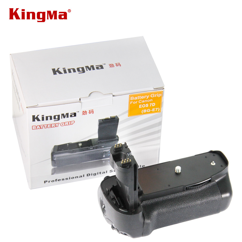 ФОТО Kingma Pro Vertical BG-E7 Battery Pack Grip Holder For Canon EOS 7D DSLR Digital SLR Camera
