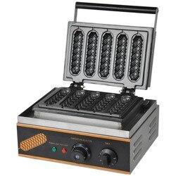Hot sale high qualtiy 5 pcs  110V 220V electric  hot dog waffle maker,waffle dog maker