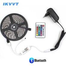 IKVVT 5m 10m 15m Bluetooth Control RGB LED Strip Light 60LEDS/m Flexible Led Tape Diode Ribbon Neon Controller