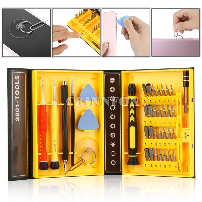 PDA PC and Other Applications 58 in 1 Screwdriver Set Tool for Repairing Phones Professional Cell Phone Accessory Kits Compatible with Mobile Phone