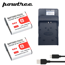 2Packs DSC-T100 3.7V 1500mAh Li-ion Battery+1Port Battery chager with LED For SONY DSC-T20 DSC-W300 DSC-W200 W100