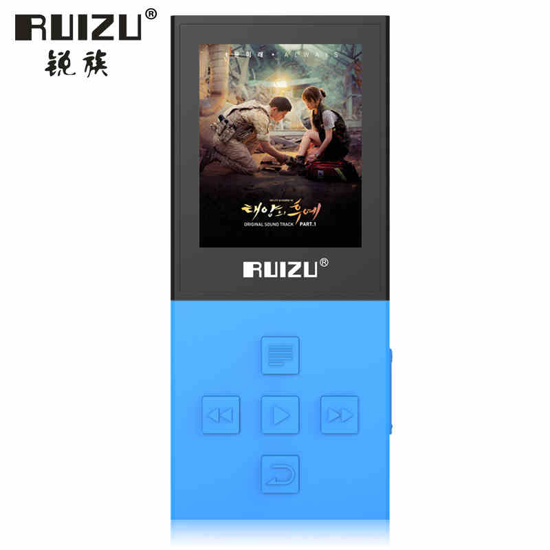 Newest Original RUIZU X18 Bluetooth 4.0 Mp3 Digital Sport MP3 Player With 8G Can Play 130 Hours Recorder FM 1.8 Screen TF Slot