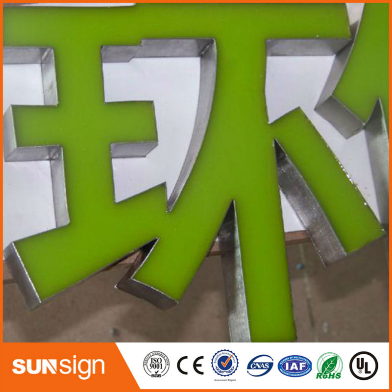 Blue 3D Resin Illuminated Led Channel Letter Sign
