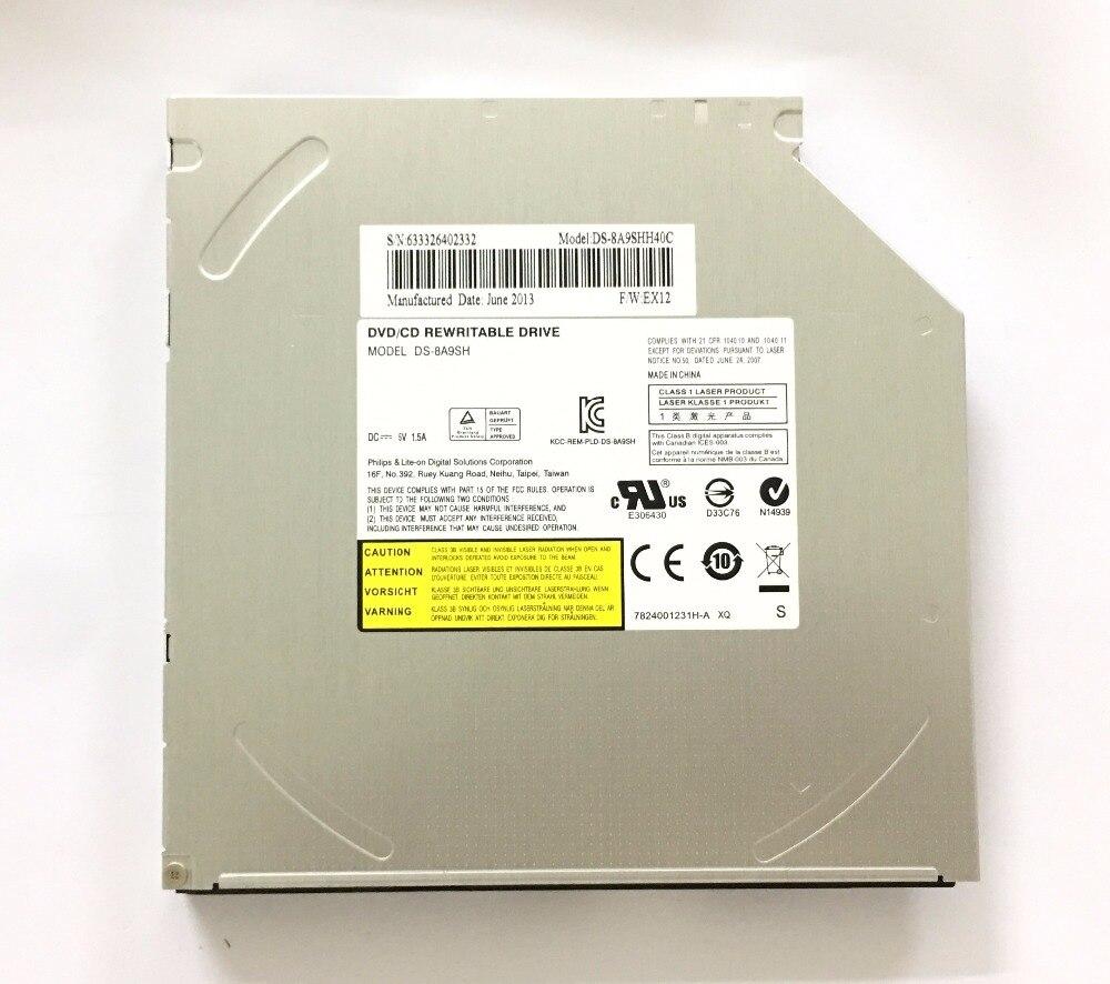 Pour Lite-sur DS-8A9SH Ordinateur Portable Interne 12.7mm SATA DVD Lecteur Optique Super Multi 8X DVD-RW DVD-R DL RAM Graveur 24X Graveur de CD Cas