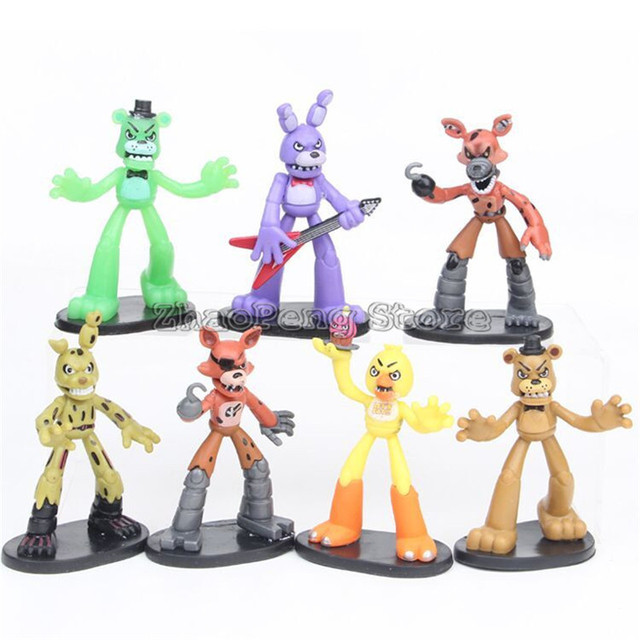 8 cm five nights at freddy s pvc action figure toy foxy gold chica