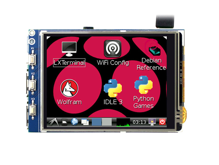 Raspberry Pie 3 generation 2 generation 3.2 inch touch screen Raspberry Pi 3 Model B LCD display