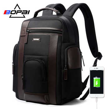 BOPAI Multifunction USB charging Men 17 inch Laptop Backpacks For Teenager Fashion Male Mochila Black Travel backpack anti thief - SALE ITEM - Category 🛒 Luggage & Bags
