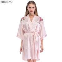 Sleepwear Women VS Summer Sexy Robe Female Home Wear Lingerie Kimono Bathrobe Bridesmaid Robes Negligee Femme For Women Girl