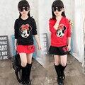 2 pçs/set Roupa Dos Miúdos Conjuntos de Roupas Meninas Menina Dos Desenhos Animados T-shirt Do Bebê Saia Vestido Da Menina Das Crianças Roupas de Inverno Quente Roupas TZ11