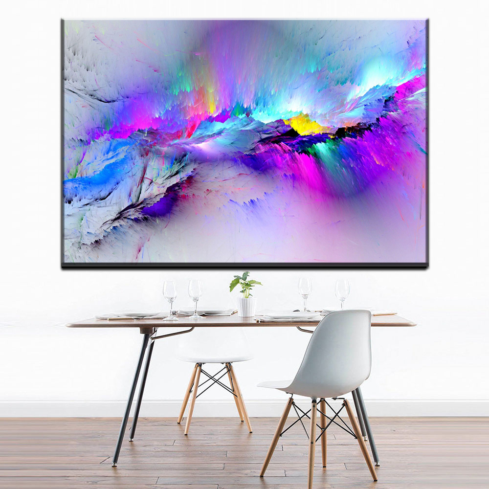 Big Canvas Art Modern Watercolor Abstract Ink Splash Big: Aliexpress.com : Buy ZZ1096 Modern Decorative Canvas Art