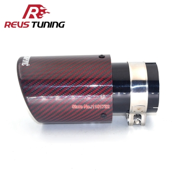 Free Shipping Inlet 51mm 54mm 57mm 60mm 63mm Glossy Car Akrapovic Exhaust Tip Carbon Fiber Exhaust Muffler Pipe End Tip bmw f30 akrapovic auspuffblende