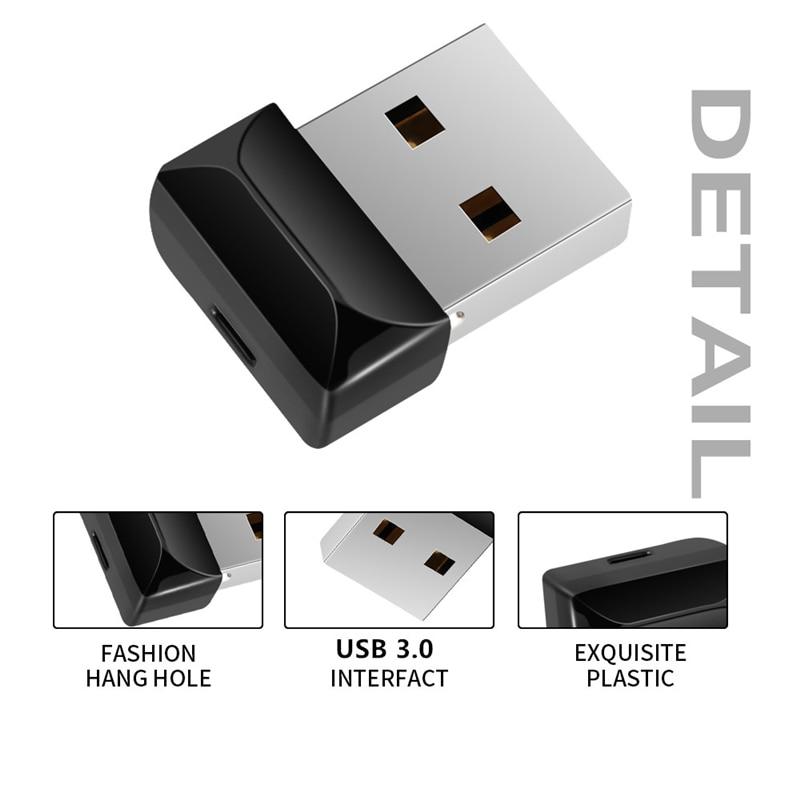 Image 2 - Flash Memory 128gb Black Mini Usb Flash Drive 32gb High Speed Usb3.0 Pen Drive 64gb Pendrive 16gb 8gb 4g Usb Stick Free Shipping-in USB Flash Drives from Computer & Office