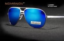 =NOMANOV= Custom Made Nearsighted Minus Prescription Polarized Sunglasses Mirror Colorful Lens Almg Alloy Double Bridge -1 To -6