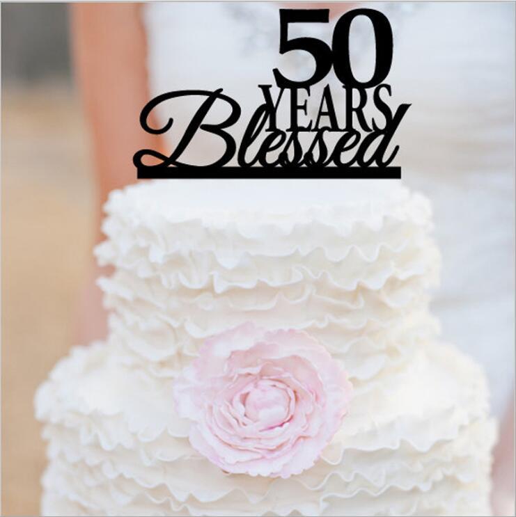 Astounding Gelukkig 50Th Birthday Cake Topper 50Th Anniversary Cake Topper Personalised Birthday Cards Veneteletsinfo