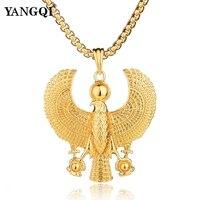 YANGQI Hip Hop American Eagle Religious Pendant Necklace Women Men Trendy Hawk Necklace USA Hawkish Symbol