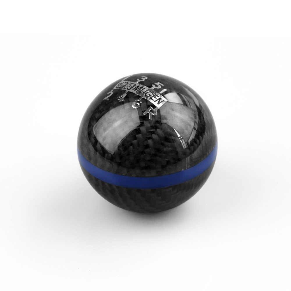 RASTP Mugen power 6 speed Racing ручка переключения передач из черного углеродного волокна с красной или синей линией RS-SFN013