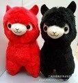 Nova Vinda 35 Cm 45 Cm 2 Cores Japão AMUSE Alpacasso adorável preto Vermelho Alpaca Animal Macio Brinquedo de Pelúcia de Aniversário Dos Miúdos Do Natal presente