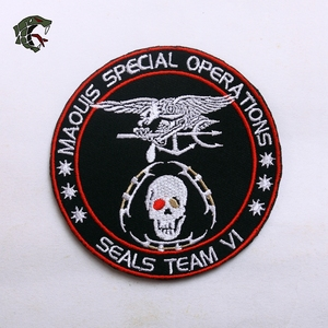 """Image 5 - TSNK Military Enthusiasts Embroidery Patch Army Tactical Badge """"SEAL TEAM /GLOVE/Baby Cart""""Armlet"""