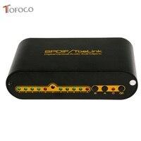 TOFOCO Digital Optical Audio True Matrix 4x2 Switch Switcher Splitter 4 In 2 Out Video Converter Remote Control